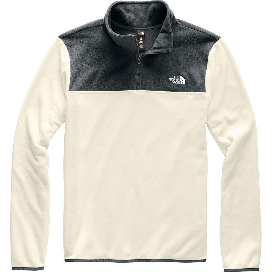 (取寄)ノースフェイス メンズ TKA グレイシャー 1/4-Zip フリース ジャケット The North Face Men's TKA Glacier 1/4-Zip Fleece Jacket Vintage White/Asphalt Grey