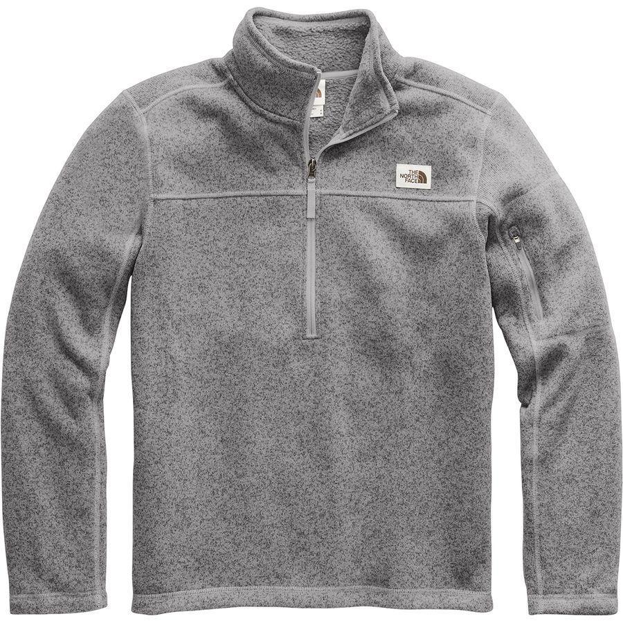 【クーポンで最大2000円OFF】(取寄)ノースフェイス メンズ ゴードン リヨン 1/4-Zip フリース プルオーバー The North Face Men's Gordon Lyons 1/4-Zip Fleece Pullover Tnf Medium Grey Heather