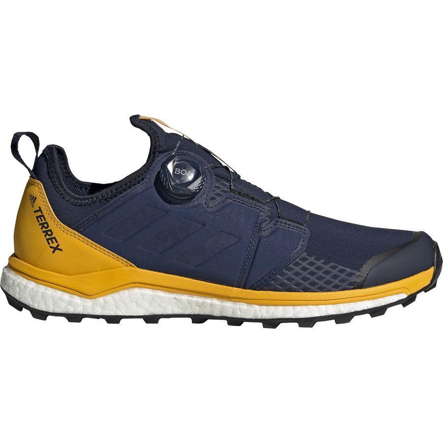 【クーポンで最大2000円OFF】(取寄)アディダス メンズ アウトドア テレックス アグラヴィック ボア トレイル ランニング シューズ ランニングシューズ Adidas Men's Outdoor Terrex Agravic Boa Trail Running Shoe Col Navy/Col Navy/Active Gold