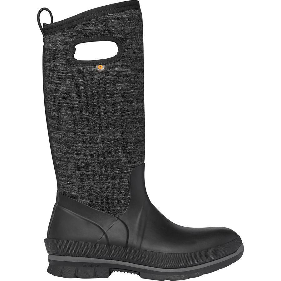 (取寄)ボグス レディース クランドル トール ニット ブーツ Bogs Women Crandall Tall Knit Boot Black Multi