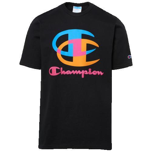 (取寄)チャンピオン メンズ グラフィック ショート スリーブ Tシャツ Champion Men's Graphic Short Sleeve T-Shirt Black Multi