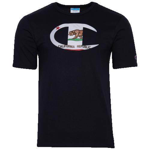 (取寄)チャンピオン メンズ グラフィック Tシャツ Champion Men's Graphic T-Shirt Navy White
