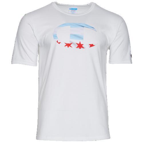 (取寄)チャンピオン メンズ グラフィック Tシャツ Champion Men's Graphic T-Shirt White Red