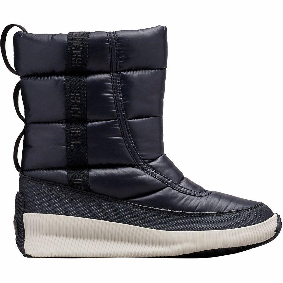 (取寄)ソレル レディース アウト Nアバウト パフィー ミッド ブーツ Sorel Women Out N About Puffy Mid Boot Black
