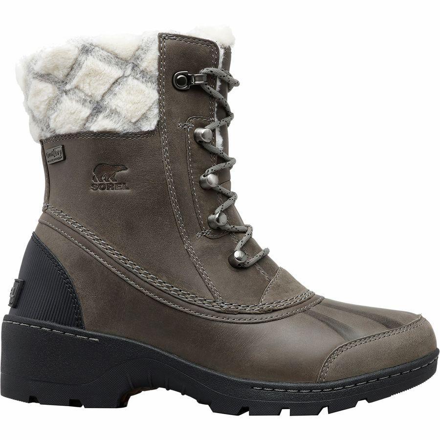(取寄)ソレル レディース ウィスラー ミッド ブーツ Sorel Women Whistler Mid Boot Quarry/Black