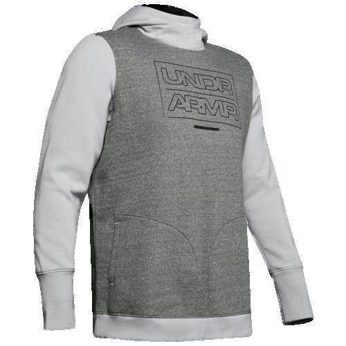 (取寄)アンダーアーマー メンズ ベースライン フリース フーディ Underarmour Men's Baseline Fleece Hoodie Mod Grey Light Heather Black