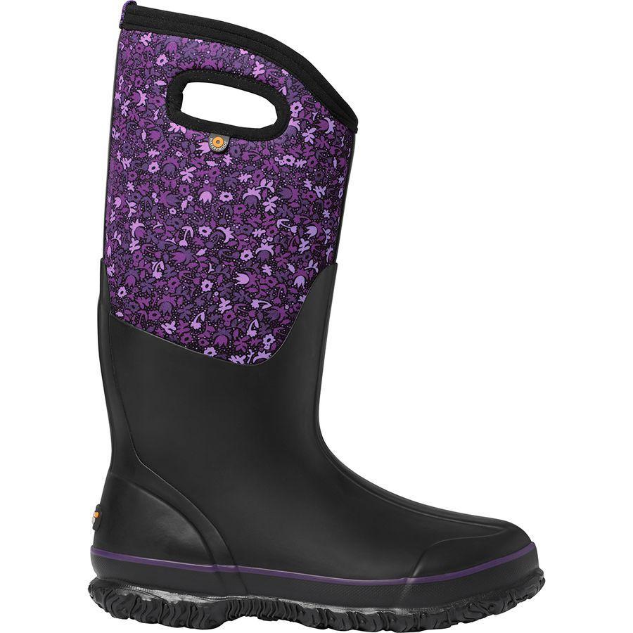 (取寄)ボグス レディース クラシック トール フレックル フラワー ブーツ Bogs Women Classic Tall Freckle Flower Boot Black Multi