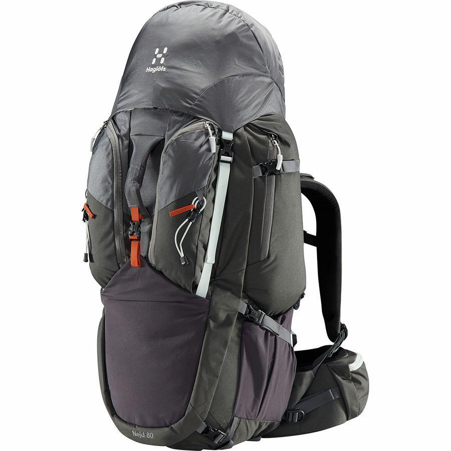 【クーポンで最大2000円OFF】(取寄)ホグロフス ユニセックス ネイド 80L バックパック Haglofs Men's Nejd 80L Backpack Magnetite/Rock