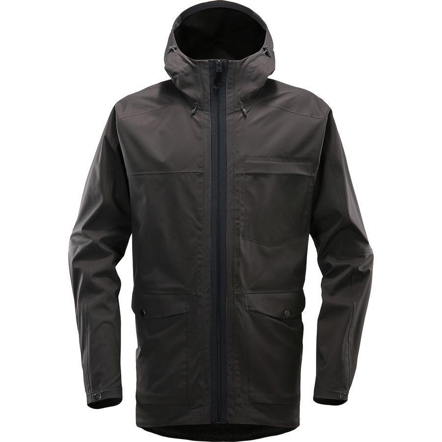 【クーポンで最大2000円OFF】(取寄)ホグロフス メンズ エコ プルーフ ジャケット Haglofs Men's Eco Proof Jacket Slate