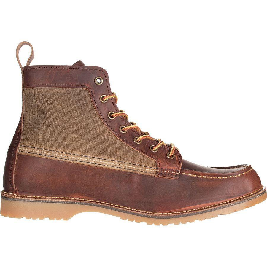 (取寄)レッドウィング メンズ ヘリテイジ ワクータ キャンバス モック ブーツ Red Wing Men's Heritage Wacouta Canvas Moc Boot Copper Rough & Tough Leather with Tan Waxed Canvas