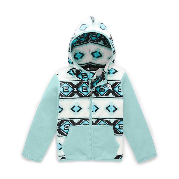 (取寄)ノースフェイス トッドラー グレイシャー フル ジップ フーディ The North Face Toddlers' Glacier Full Zip Hoodie TNF White Mini Tribal Geo Print