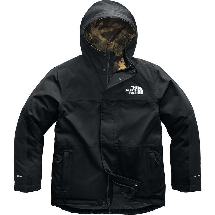 【エントリーでポイント10倍】(取寄)ノースフェイス メンズ バーラム インサレーテッド ジャケット The North Face Men's Balham Insulated Jacket Tnf Black/Burnt Olive Green Waxed Camo Print
