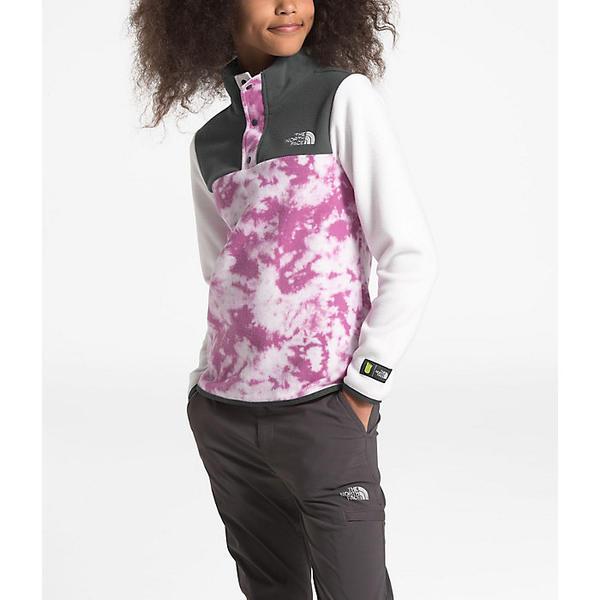 (取寄)ノースフェイス ガールズ グレイシャー 1/4 スナップ トップ The North Face Girls' Glacier 1/4 Snap Top Wisteria Purple Big Foot Tie Dye Print