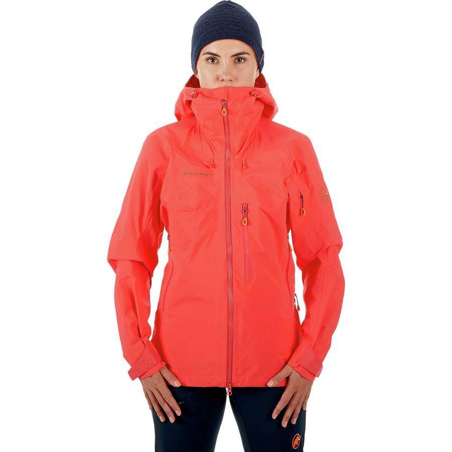 (取寄)マムート レディース ノードワンド プロ HS フーデッド シェル ジャケット Mammut Women Nordwand Pro HS Hooded Shell Jacket Sunset