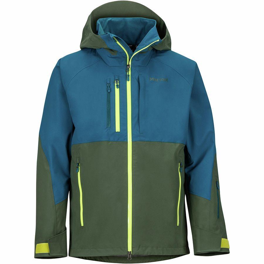 【マラソン ポイント10倍】(取寄)マーモット メンズ BLプロ ジャケット Marmot Men's BL Pro Jacket Crocodile/Moroccan Blue