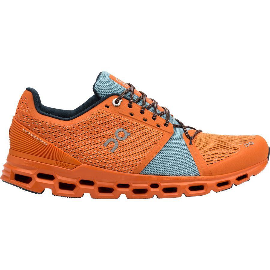 【マラソン ポイント10倍】(取寄)オン ランニング メンズ クラウドストラトス ランニングシューズ ON Running Men's Cloudstratus Running Shoe Orange/Wash