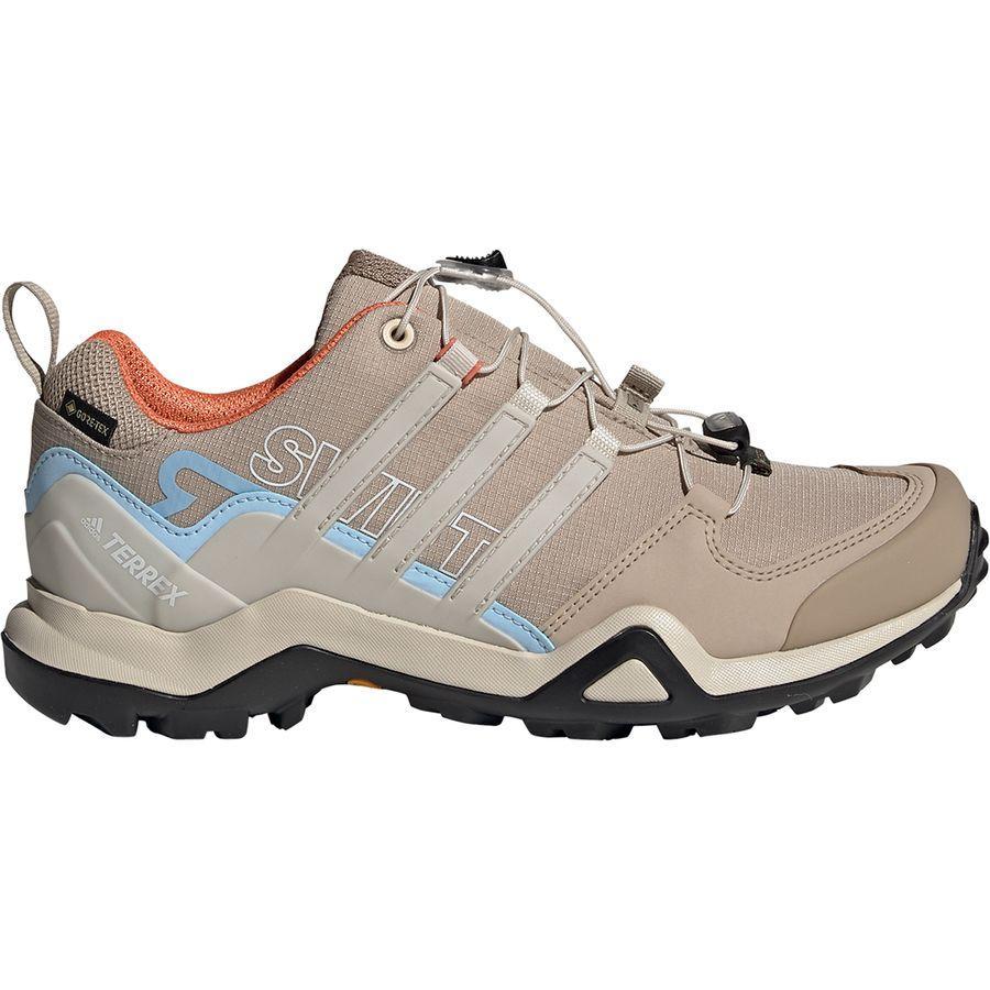 【クーポンで最大2000円OFF】(取寄)アディダス レディース アウトドア テレックス スウィフト R2 Gtx ハイキングシューズ Adidas Women Outdoor Terrex Swift R2 GTX Hiking Shoe Trace Khaki/Clear Brown/Glow Blue