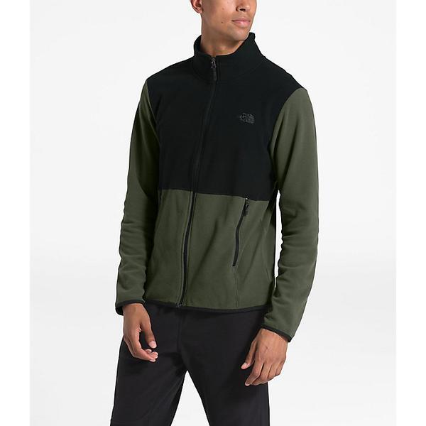 (取寄)ノースフェイス メンズ TKA グレイシャー フル ジップ ジャケット The North Face Men's TKA Glacier Full Zip Jacket New Taupe Green / TNF Black