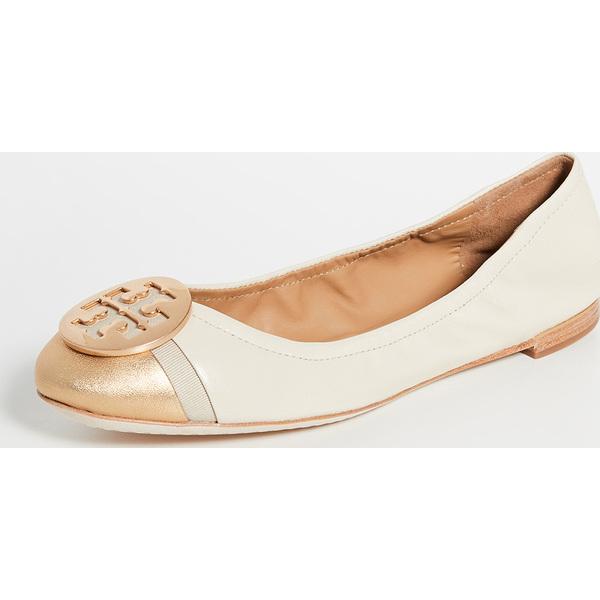 (取寄)トリーバーチ レディース ミニー キャップ トゥ バレエ フラッツ Tory Burch Women's Minnie Cap Toe Ballet Flats DulceDeLeched Gold