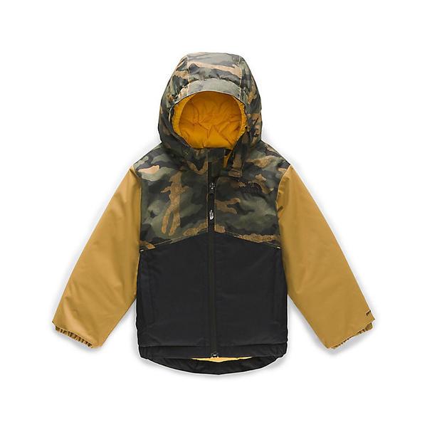 (取寄)ノースフェイス トドラー スノークエスト インスレート ジャケット The North Face Toddler's Snowquest Insulated Jacket British Khaki Mini Waxed Camo Print