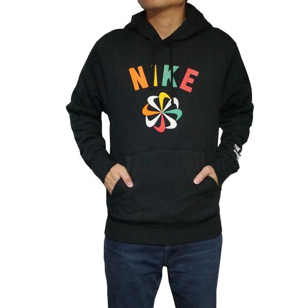 【エントリーでポイント10倍】NIKE ナイキ メンズ パーカー グラフィック フーディ プルオーバー 風車ロゴ ブラック Nike Men's Graphic Hoodie Black Orange Gold