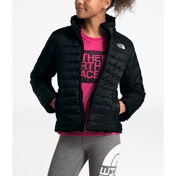 【クーポンで最大2000円OFF】(取寄)ノースフェイス ガールズ リバーシブル モスブッド スワール ジャケット The North Face Girls' Reversible Mossbud Swirl Jacket TNF Black