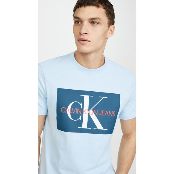 (取寄)カルバンクライン ジーンズ EDI ボックス モノグラム ティー Calvin Klein Jeans Edi Box Monogram Tee Skyway