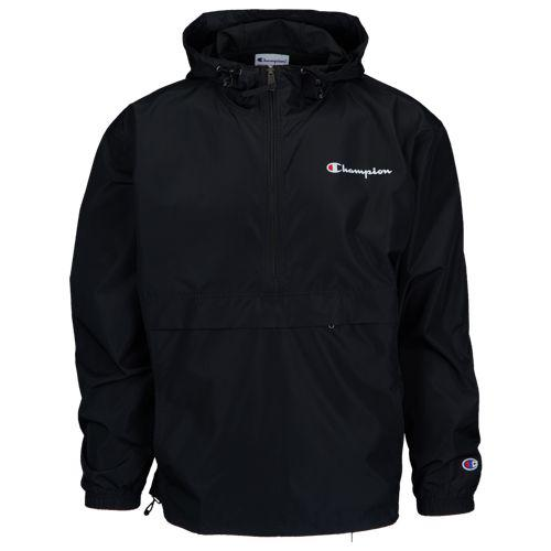 (取寄)チャンピオン メンズ パッカブル アノラック ジャケット Champion Men's Packable Anorak Jacket Black