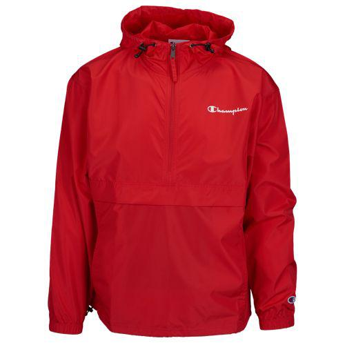 (取寄)チャンピオン メンズ パッカブル アノラック ジャケット Champion Men's Packable Anorak Jacket Scarlet
