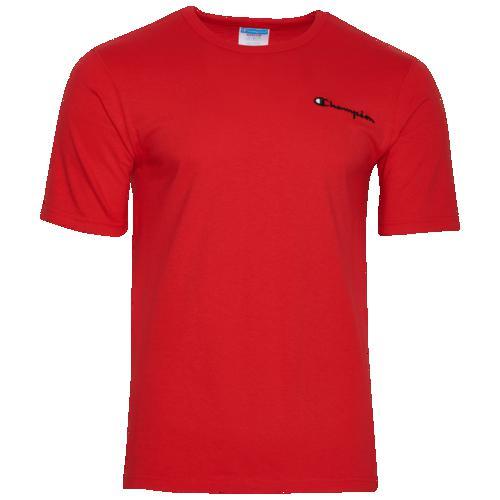 (取寄)チャンピオン メンズ スクリプト エンブロイダード Tシャツ Champion Men's Script Embroidered T-Shirt Team Red Scarlet