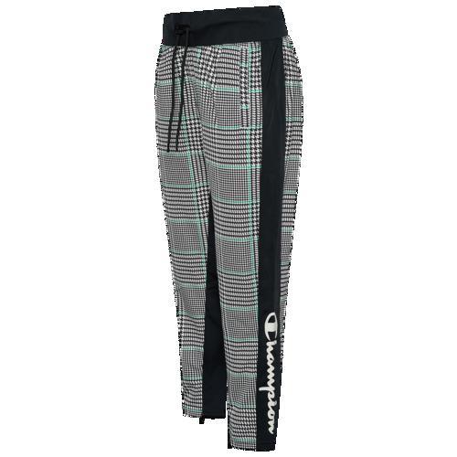 (取寄)チャンピオン レディース トリコット スリム レッグ トラック パンツ Champion Women's Trico Slim Leg Track Pant Houndstooth Black