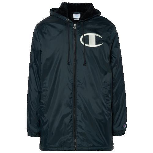 (取寄)チャンピオン メンズ シェルパ ライン スタジアム ジャケット Champion Men's Sherpa Lined Stadium Jacket Black