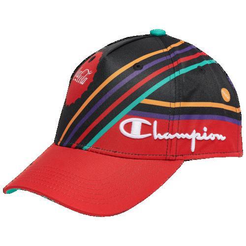 (取寄)チャンピオン メンズ コカ・コーラ AOP ハット Champion Men's Coca-Cola AOP Hat Black Red