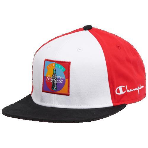 (取寄)チャンピオン メンズ コカ・コーラ カラーブロック ハット Champion Men's Coca-Cola Colorblocked Hat White Red Black