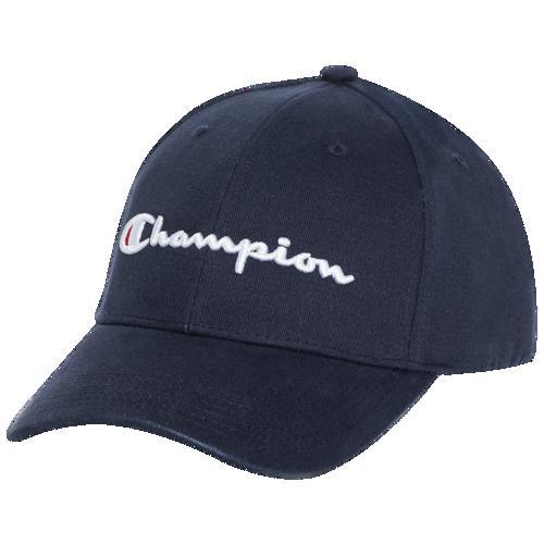 (取寄)チャンピオン クラシック ツイル スクリプト ハット - アダルト Champion Classic Twill Script Hat - Adult Navy