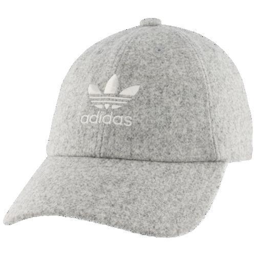 (取寄)アディダス レディース オリジナルス リラックスド ウール ストラップバック ハット Women's adidas Originals Relaxed Wool Strapback Hat Light Grey Heather