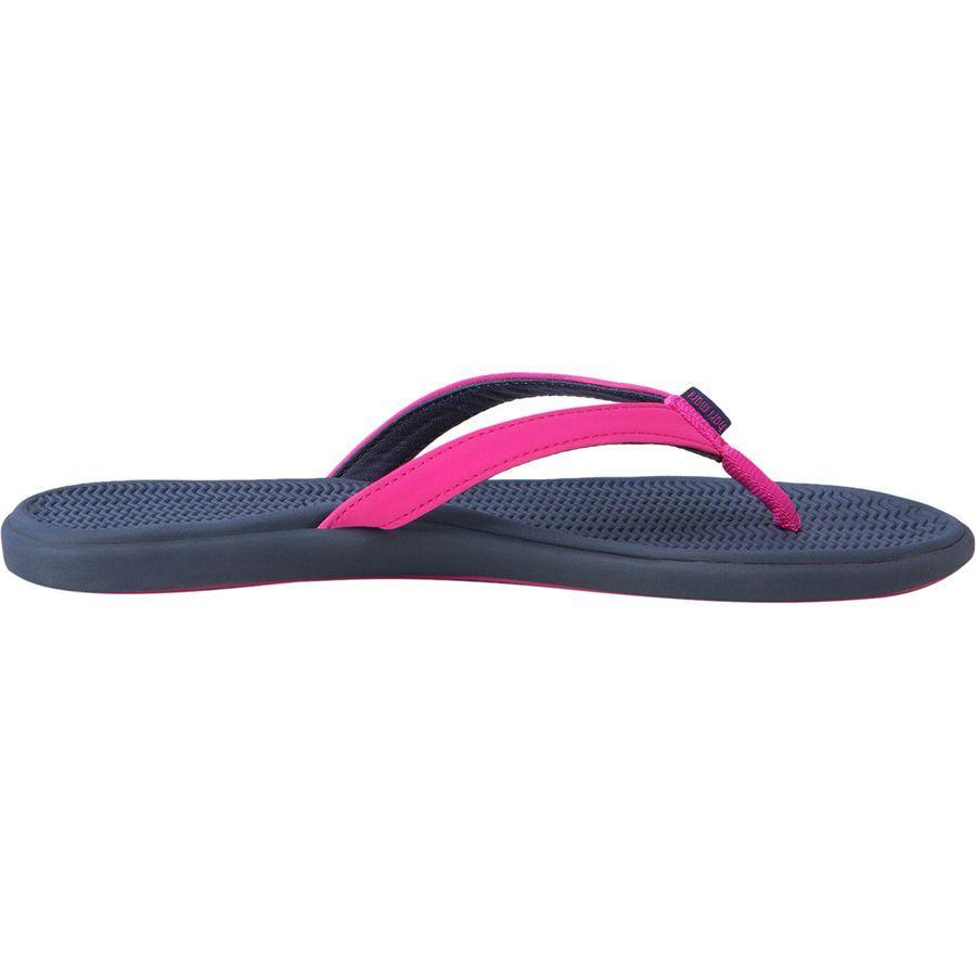 (取寄)ハリマリ レディース ビーチサイド サンダル Hari Mari Women Beachside Flip Flop Berry/Navy
