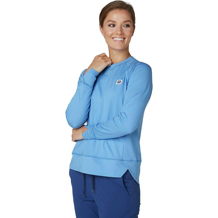 (取寄)ヘリーハンセン レディース ヒッゲン ロングスリーブ トレーナー プルオーバー Helly Hansen Women Hyggen Longsleeve Sweatshirt Pullover Cornflower