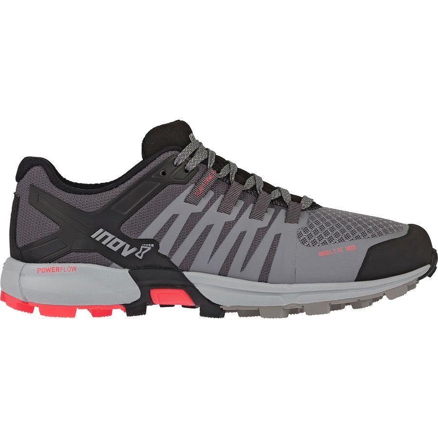 【クーポンで最大2000円OFF】(取寄)イノヴェイト レディース ロックライト 305トレイル ランニングシューズ Inov 8 Women Roclite 305 Trail Running Shoe Grey/Black/Coral