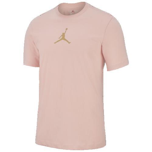 (取寄)ジョーダン メンズ ジャンプマン ドライフィット クルー Tシャツ Jordan Men's Jumpman Dri-FIT Crew T-Shirt Coral Stardust Club Gold