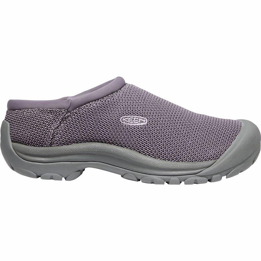 (取寄)キーン レディース ケーシー スライド メッシュ シューズ KEEN Women Kaci Slide Mesh Shoe Shark/Lavender Grey