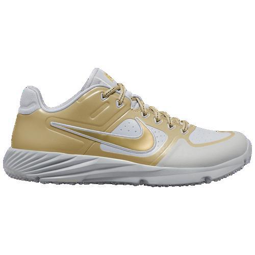 【クーポンで最大2000円OFF】(取寄)ナイキ メンズ アルファ ハラチ エリート 2 ターフ Nike Men's Alpha Huarache Elite 2 Turf Wolf Grey Metallic Gold