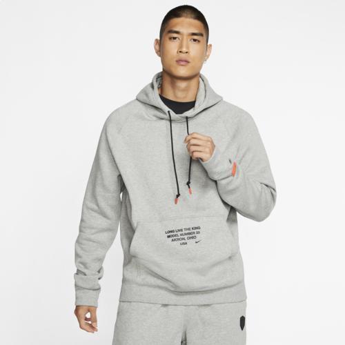 (取寄)ナイキ メンズ パーカー レブロン フーディ Nike Men's LeBron Hoodie Dark Grey Heather Black Team Orange