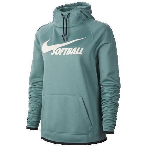 (取寄)ナイキ レディース パーカー ソフトボール サーマ フーディ Nike Women's Softball Therma Hoodie Bicoastal Black Pale Ivory
