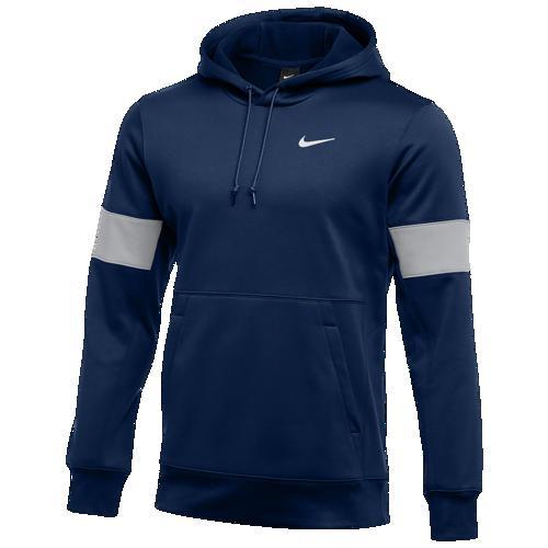 (取寄)ナイキ メンズ パーカー チーム オーセンティック サーマ プルオーバー フーディ Nike Men's Team Authentic Therma Pullover Hoodie College Navy Flat Silver White