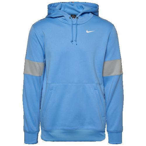 【エントリーでポイント10倍】(取寄)ナイキ メンズ パーカー チーム オーセンティック サーマ プルオーバー フーディ Nike Men's Team Authentic Therma Pullover Hoodie Valor Blue Flat Silver White