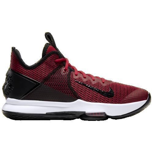 (取寄)ナイキ メンズ レブロン ウィットネス 4 Nike Men's LeBron Witness 4 Black Gym Red University Red