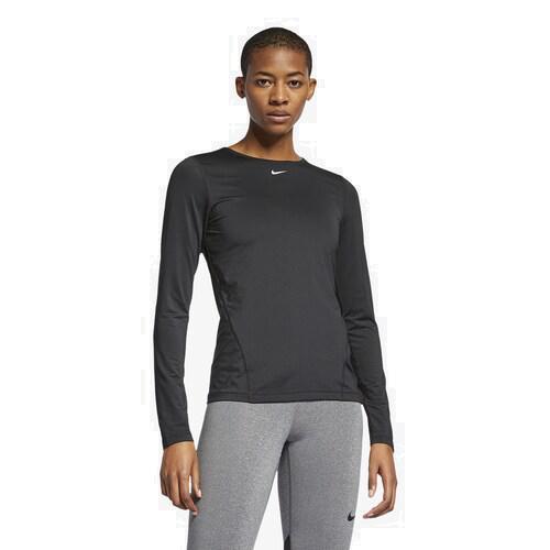 (取寄)ナイキ レディース プロ オール オーバー メッシュ ロングスリーブ トップ Nike Women's Pro All Over Mesh Long-Sleeve Top Black White