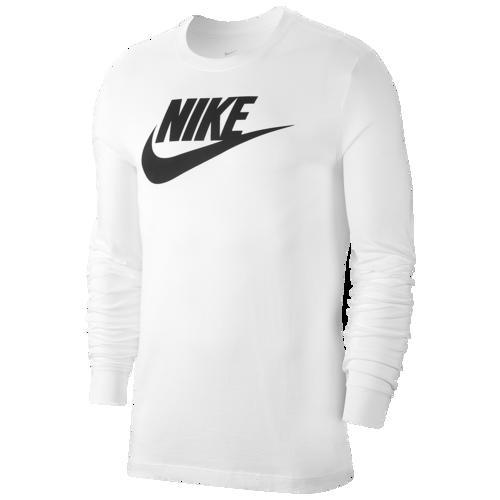 (取寄)ナイキ メンズ アイコン フューチュラ ロング スリーブ Tシャツ Nike Men's Icon Futura Long Sleeve T-Shirt White Black