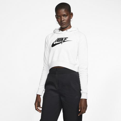(取寄)ナイキ レディース パーカー エッセンシャル クロップ フーディ Nike Women's Essential Crop Hoodie Birch Heather Black